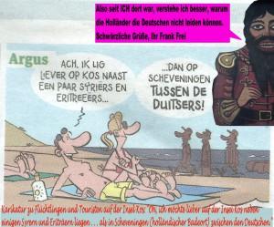 Holländische Karikatur - mit Frank Frei