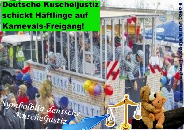 Echte Häftlinge von der Kuscheljustiz zum Feiern verurteilt