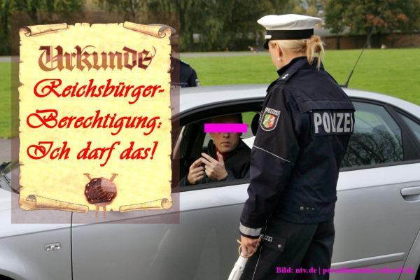 Reichsbürger betrunken Kontrolle